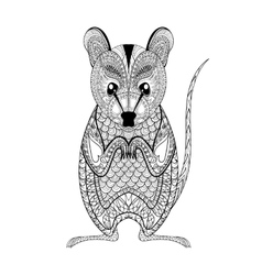 Zentangle Possum totem for adult anti stress vector image vector image