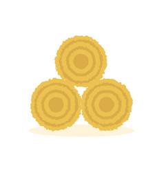 dried haystack icon vector image