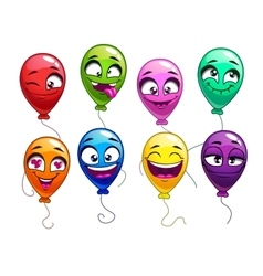 Funny cartoon balloons with comic faces vector image vector image