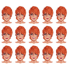 portraits of beatuful woman with red hair vector image vector image