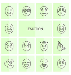 14 emotion icons vector