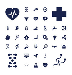 37 life icons vector