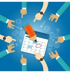 action plan calendar deadline target collaboration vector image
