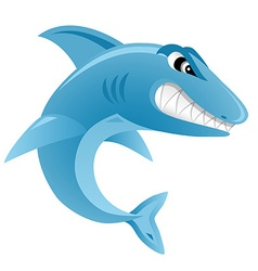 Angry shark - isolated on white background vector
