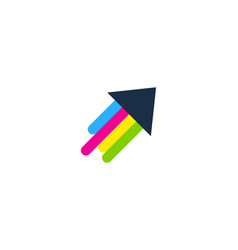 arrow paint logo icon design vector image