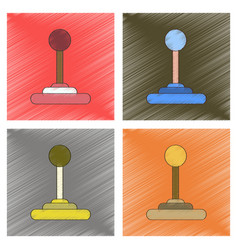 Assembly flat shading style joystick vector