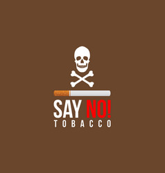 Background of world no tobacco day style vector