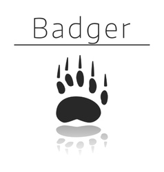 Badger animal track vector