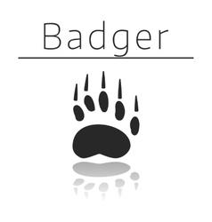 Badger animal track vector image