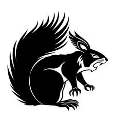 Black squirrel sign vector