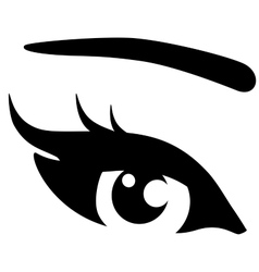 black woman eye vector image