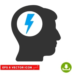 Brain Electric Shock Eps Icon vector