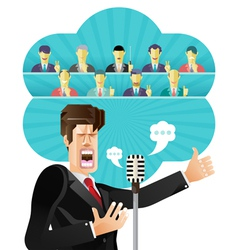 Businessman speeching vector