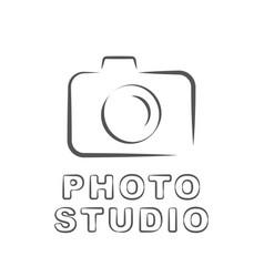 camera icon flat photo camera isolated vector image