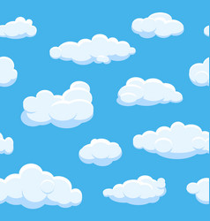 Cartoon clouds seamless background vector