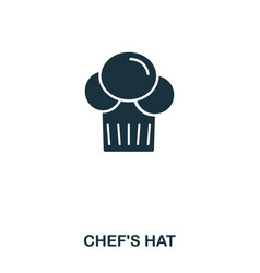 chef hat icon mobile apps printing and more vector image