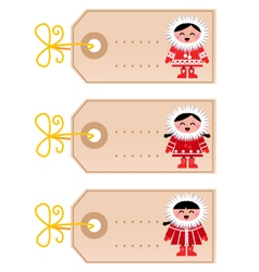 christmas blank tags vector image