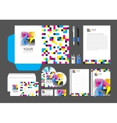 Cmyk Corporate Identity template design abstract vector