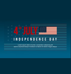 Collection celebration independence day banner vector