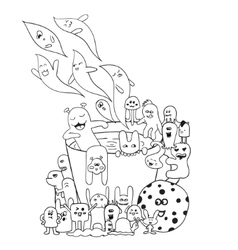 Coloring pages for adults book black vector
