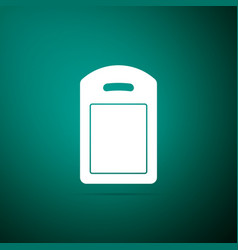 cutting board icon isolated on green background vector image