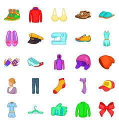 Dandy icons set cartoon style vector