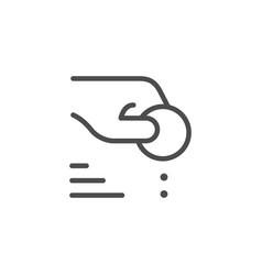 Donation line icon vector