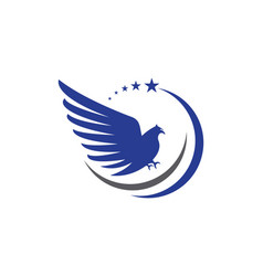 Falcon wing logo template icon design vector