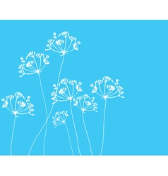 Fennel flower blue vector