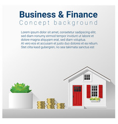 finance concept background with real estate invest vector image