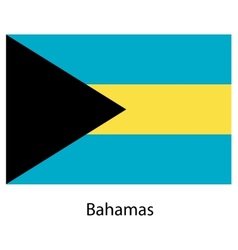 Flag of the country bahamas vector image