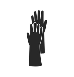 flat icon of rubber glove vector image