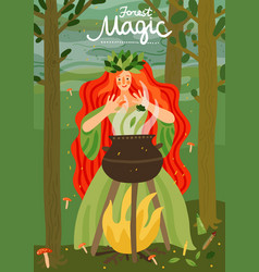 Forest fairy-tale character vector