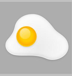 fried egg omelette isolated on gray background vector image
