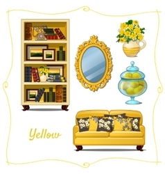 Furniture in classical style five objects vector
