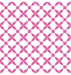 geometric cross flower seamless pattern vector image