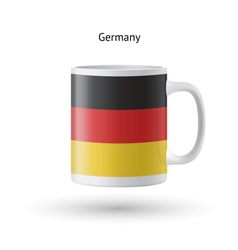 Germany flag souvenir mug on white background vector