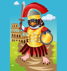 Gladiator bird vector