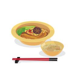 goose leg noodle vector image
