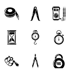 gravity icons set simple style vector image