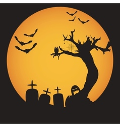 Grunge Halloween night background vector image