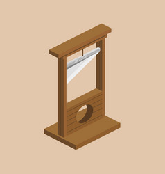 Guillotine isometric vector