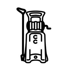 Icon of high pressure washer vector