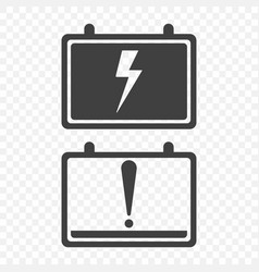 icons full charge and discharge the car battery vector image