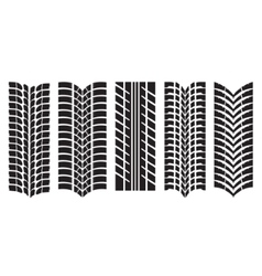 Image of car tyre prints vector