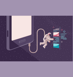 Internet surfing in open space using a gadget vector