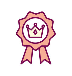 Isolated royal crown inside seal stamp line and vector