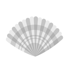 Isolated shell design vector