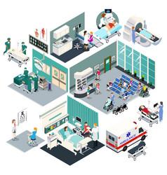 Isometric design a hospital vector