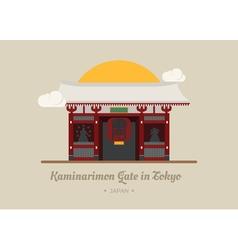 Kaminarimon Gate in Tokyo Japan eps10 vector image